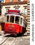tram in lisbon  | Shutterstock . vector #1116883139