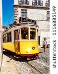 tram in lisbon  | Shutterstock . vector #1116885149