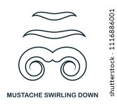 mustache swirling down icon....