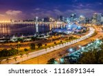 skyline of capital city luanda  ... | Shutterstock . vector #1116891344