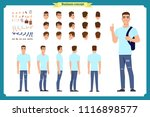 standing young boy. male... | Shutterstock .eps vector #1116898577