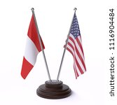 peru and usa  two table flags... | Shutterstock . vector #1116904484
