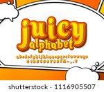 juicy yellow and orange comic... | Shutterstock .eps vector #1116905507