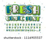 fresh green and blue comic font ... | Shutterstock .eps vector #1116905537