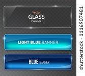 glass plates set. vector glass... | Shutterstock .eps vector #1116907481