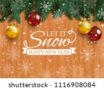 christmas card with detailed... | Shutterstock . vector #1116908084