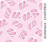 hand draw marshmallow twists... | Shutterstock .eps vector #1116919814