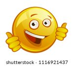 cheerful yellow smiley on a... | Shutterstock .eps vector #1116921437
