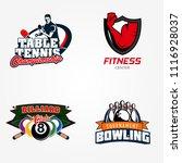 tennis table or pingpong ... | Shutterstock .eps vector #1116928037