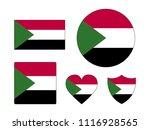 sudan flags set | Shutterstock .eps vector #1116928565