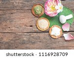 spa treatment equipments... | Shutterstock . vector #1116928709
