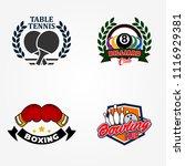 tennis table or pingpong ... | Shutterstock .eps vector #1116929381