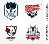 tennis table or pingpong ... | Shutterstock .eps vector #1116929387