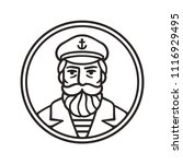vintage style sea captain... | Shutterstock .eps vector #1116929495