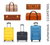 baggage colored set of bags... | Shutterstock .eps vector #1116937601