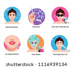 cosmetology 6 flat round icons... | Shutterstock .eps vector #1116939134