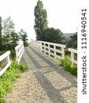 white bridge  bolsward ... | Shutterstock . vector #1116940541