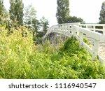 white bridge  bolsward ... | Shutterstock . vector #1116940547