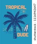 tropical dude t shirt design | Shutterstock .eps vector #1116942647