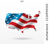 map of the usa with american... | Shutterstock .eps vector #1116944141