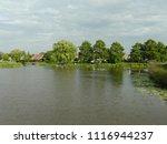 dutch ditch  friesland | Shutterstock . vector #1116944237