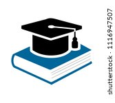 book with vector graduation cap ... | Shutterstock .eps vector #1116947507