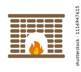 vector home fireplace... | Shutterstock .eps vector #1116947615