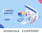 business analysis  concept... | Shutterstock .eps vector #1116953369
