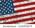 grunge american flag.vector... | Shutterstock .eps vector #1116955475
