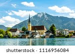 tegernsee lake in bavaria  ... | Shutterstock . vector #1116956084