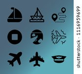 vector icon set about transport ... | Shutterstock .eps vector #1116959699