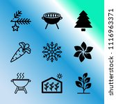 vector icon set about gardening ... | Shutterstock .eps vector #1116963371