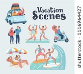 vector cartoon funny... | Shutterstock .eps vector #1116964427