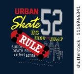 urban skate t shirt design... | Shutterstock .eps vector #1116966341