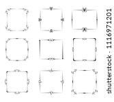 set of vector vintage frames on ...   Shutterstock .eps vector #1116971201