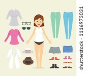 character design woman with... | Shutterstock .eps vector #1116973031