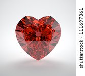 3d illustration of heart shaped ... | Shutterstock . vector #111697361