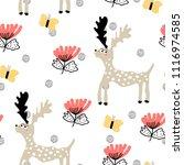 baby seamless pattern   deer...   Shutterstock .eps vector #1116974585