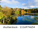 Mount Stewart Autumn Reflections on Boating Lake County Down Northern Ireland