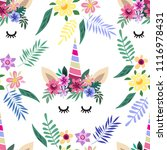 awesome seamless pattern with... | Shutterstock .eps vector #1116978431