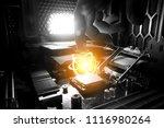 quantum super computer cpu... | Shutterstock . vector #1116980264