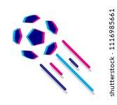 soccer ball 2018 | Shutterstock .eps vector #1116985661