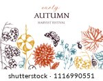 vintage design with hand drawn... | Shutterstock .eps vector #1116990551