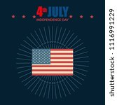 usa independence day with flag | Shutterstock .eps vector #1116991229