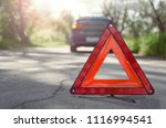 red triangle emergency stop... | Shutterstock . vector #1116994541