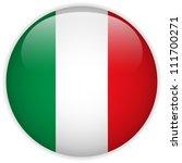 vector   italy flag glossy... | Shutterstock .eps vector #111700271