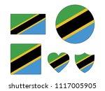 tanzania flags set | Shutterstock .eps vector #1117005905
