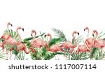 watercolor tropical seamless... | Shutterstock . vector #1117007114