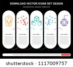 5 vector icons such as coffin ... | Shutterstock .eps vector #1117009757