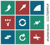 arrows icon. collection of 9...   Shutterstock .eps vector #1117009919